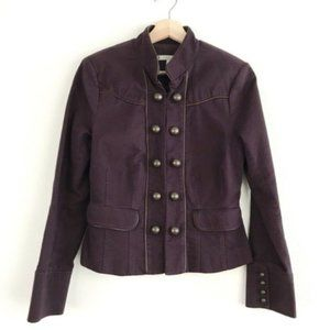 Anthropologie Allegory Plum Military Jacket